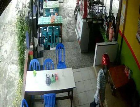 Terduga pelaku percobaan pencurian sepeda motor di RM Mbak Sari