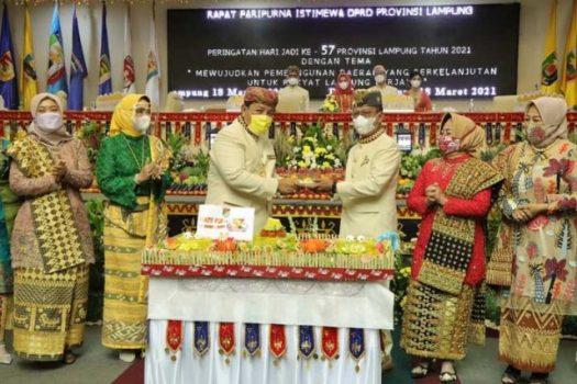 HUT ke-57 Lampung, Gubernur Arinal Ajak Masyarakat Berjuang dan Ukir Sejarah