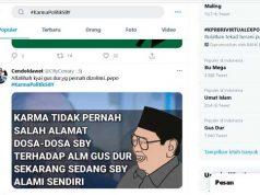 Tangkapan layar tema yang sedang ramai diperbincangkan di Twitter pada Sabtu sore (6/3/2021) pukul 16.00 WIB.