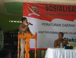Ali Imron Sosialisasikan Perda Adaptasi Kebiasaan Baru di Brajayekti