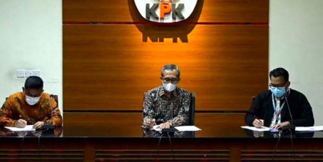 Wakil Ketua KPK Alexandera Marwata mengumumkan SP3 Sjamsul Nursalim dalam perkara BLBI, Kamis (1/4/2021).