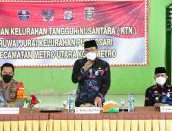 Walikota Metro Resmikan Kelurahan Tangguh Nusantara Purwosari