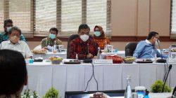 Ketua Tim Kunker Spesifik Komisi XI DPR RI, A. Junaidi Auly saat menyampaikan sambutan