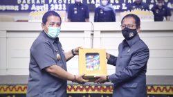 Gubernur Lampung Serahkan LKPJ Kepala Daerah 2020