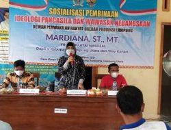 Mardiana Sosialisasikan Ideologi Pancasila di Desa Karyasakti Lampura