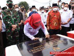 Walikota Eva Dwiana Resmikan Fly-over Sultan Agung Bandarlampung