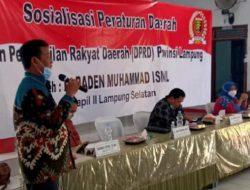 Raden Muhammad Ismail Sosialisasi Perda AKB di Sukadamai
