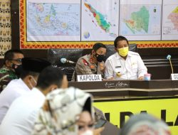 Gubernur Arinal Bersama Kapolda Ikuti Arahan Kapolri Jenderal Listyo Sigit Prabowo Terkait Kesiapan Pengamanan Idul Fitri 1442 H