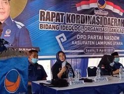 DPW Nasdem Minta Kadernya Berjuang Raih Jabatan Wabup Lampura