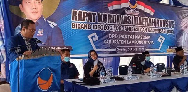 Wakil DPW Partai Nasdem Lampung, Yuria Putra Tubarad