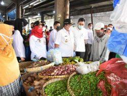 Cek Penerapan Prokes, Walikota Bandarlampung-Gubernur Lampung Tinjau Pasar Pasirgintung