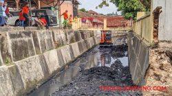 Sungai Kecil di Bawah Flyover Gajahmada Bandarlampung Kini Terlihat Bersih