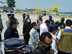 Kepala PT Jasa Raharja Lampung Sambut Panglima TNI dan Kapolri di Pelabuhan Bakauheni