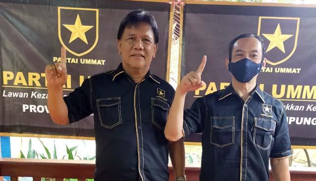 Abdullah Fadri Auly (kiri), kandidat terkuat Ketua Partai Ummat Lampung. Foto: Istimewa