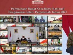 Gubernur Lampung Arinal Djunaidi Ikuti Rakornas Pengawasan Intern Pemerintah 2021 Bersama Jokowi
