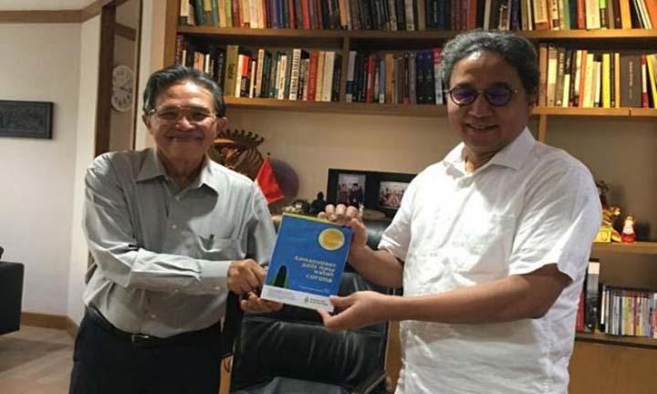 Ketua Umum SATU PENA Nasir Tamara bertemu Dirjen Kebudayaan Hilmar Farid membahas Kongres Kebudayaan di Jakarta (Dok.SATU PENA)