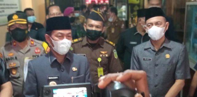 Bupati Budi Utomo menjelaskan soal RPJMP Perubahan 2019-2024.