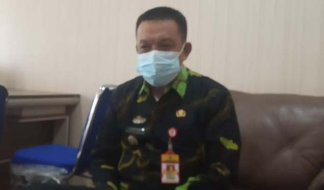 Pelaksana Tugas Kepala BKPSDM Lampung Utara, Sofyan menjelaskan seputar perkembangan Selter JPTP Pemkab Lampung Utara