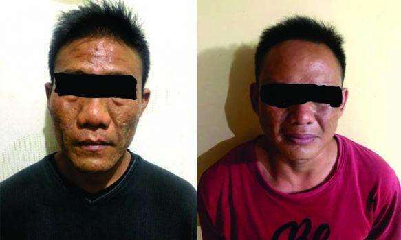 Dua tersangka pengedar narkoba jenis sabu-sabu, YF (41) dan IC (31) yang diamankan petugas Subdit 2 Ditres Narkoba Polda Lampung. (Foto: dok. Ditres Narkoba Polda Lampung).
