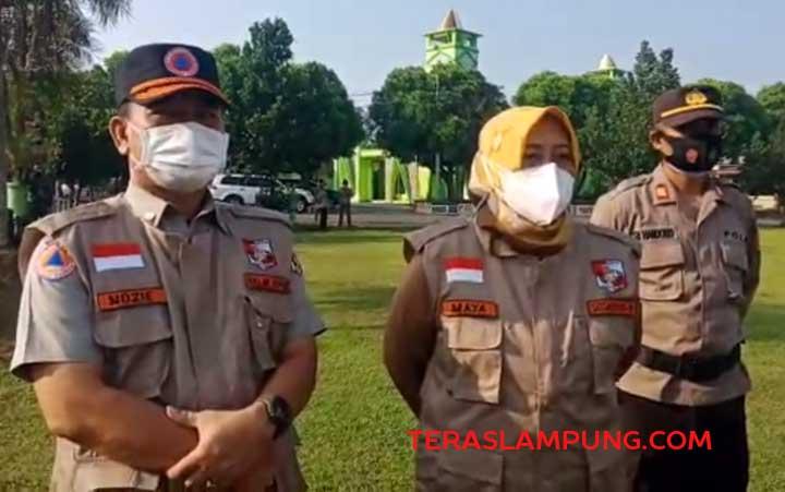 Pelaksana Tugas Kepala Dinas Kesehatan Lampung Utara, Maya Natalia Manan menjelaskan langkah yang akan dilakukan untuk mengantisipasi lonjakan kasus Covid-19, Senin (5/7/2021).