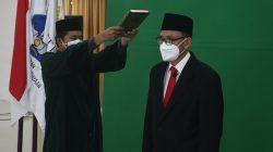 Pelantikan Prof Mitra Djamal sebagai Rektor Itera, Jumat (2/7/2021)