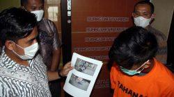 DS, ojol warga Telukbetung Utara, Bandarlampung, ditangkap polisi karena mengaku dibegal oleh penumpang yang baru diantarnya.