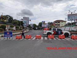 Hari Pertama PPKM Darurat di Bandarlampung, Empat Ruas Jalan Utama Ditutup