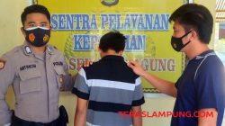 Fr, perampas HP di Pekon Kusa, Kotaagung, Tanggamus, dibekuk petugas Polsek Kotaagung (Foto: teraslampung.com/Siswanto)