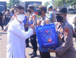 Polda Lampung Salurkan Bantuan 100 Ton Beras PT Sinar Jaya Agro Investama