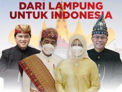 Jokowi dan Erick Thohir Pakai Baju Adat Lampung di HUT ke-76 RI
