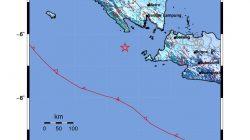 Peta lokasi gempa Tanggamus, 6 Agustus 2021. Sumber: BMKG