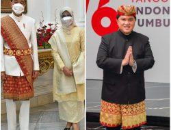 Ini Kata Para Tokoh Soal Pakaian Adat Lampung Pepadun yang Dikenakan Presiden Jokowi