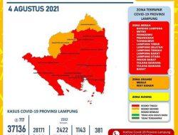 Zona Merah Hampir Merata di Kabupaten/Kota di Lampung, Hari Ini Kasus Covid-19 Tambah 717