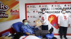 Peresmian Gerai Donor Darah di PMI Lampung, Jumat (17/9/2021).