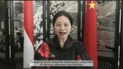 Tangkapan layar video Konsulat Jenderal Tiongkok yang berkedudukan di Medan, Sumatera Utara, Qiu Weiwi, mengucapkan selamat HUT Provinsi Kepri.