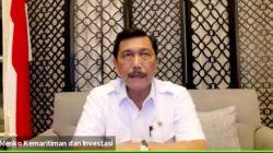 Menteri Kordinator Bidang Kemaritiman dan Investasi Luhut Binsar Pandjaitan menjelaskan perpanjangan PPKM untuk wilayah Jawa dan Bali, Senin malam (13/9/2021).