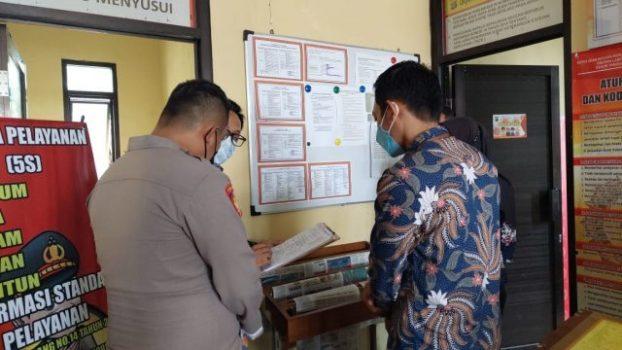 Tim Ombusman Republik Indonesia (RI) mengunjungi Polres Tanggamus dalam rangka penilaian kepatuhan penyelenggara pelayanan publik, Rabu (8/9/2021).