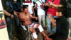 Terduga pelaku begal sadis yang diamankan oleh Tim Tekab 308 gabungan dari Polda Lampung dan Polres Lampung Utara, Sabtu (16/10/2021).