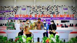 Presiden Jokowi meresmikan Istora Papua Bangkit dan sejumlah tempat pertandingan (venue) PON XX Papua, Sabtu, 2 Oktober 2021.
