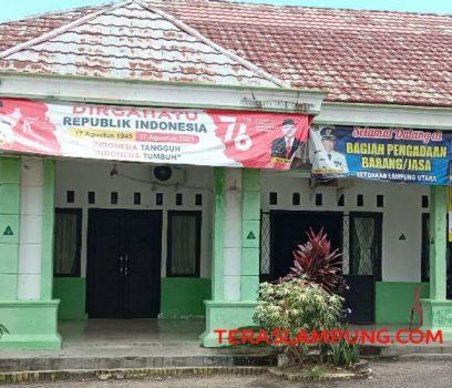 Kantor Bagian Pengadaan Barang dan Jasa Lampung Utara yang bertugas melakukan pengadaan barang dan jasa di Lampung Utara. Foto: Teraslampung.com/Feaby Handana
