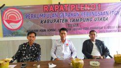 Ketua PGK Lampung Utara, Exsadi sebelum memimpin rapat pleno I penetapan pengurus ranting PGK di tujuh kecamatan, Sabtu (9/10/2021).
