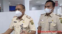 Kepala BPPRD Kota Bandarlampung Yanwardi (kiri) didampingi Kabid Pajak Andre Setiawan.