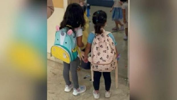 Nadiem Makarim mengunggah foto dua anaknya yang melakukan Pembelajaran Tatap Muka. Foto: Instagram Nadiem Makarim.