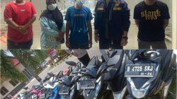 Salah seorang anggota komplotan maling sepeda motor asal Lampung Tengah yang menyerahkan diri ke Polres Lampung Utara, Sabtu (16/10/2021).
