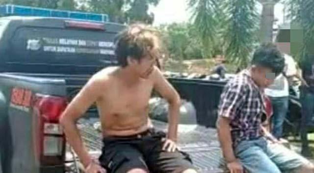 Dua spesialis maling motor yang meresahkan warga Lampung Utara ditangkap Tim Tekab 308 Satreskrim Polres Lampung Utara, Selasa (12/10/2021)
