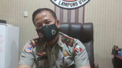 Kepala Pelaksana Badan Penanggulangan Bencana Daerah Lampung Utara, Nozi Efialis menjelaskan lagu mars TRC BPBD Lampung Utara tangguh yang sengaja diciptakannya untuk BPBD Lampung Utara