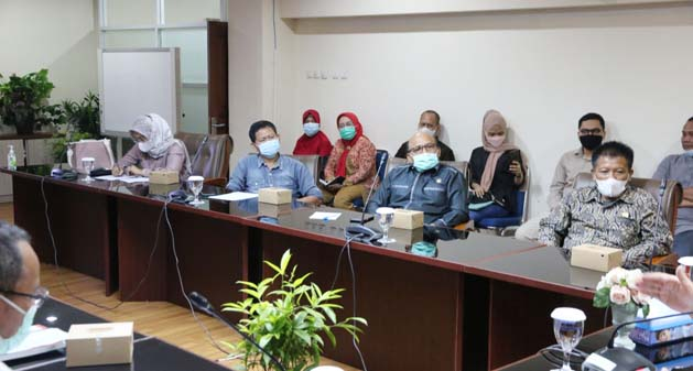 Kunjungan Komisi II DPRD Kota Serang dan Dinas Transmigrasi Kota Serang di Kantor Sekretaris Direktorat Jenderal Pembangunan dan Pengembangan Kawasan Transmigrasi (PPKTrans), Jumat (8/10/2021).