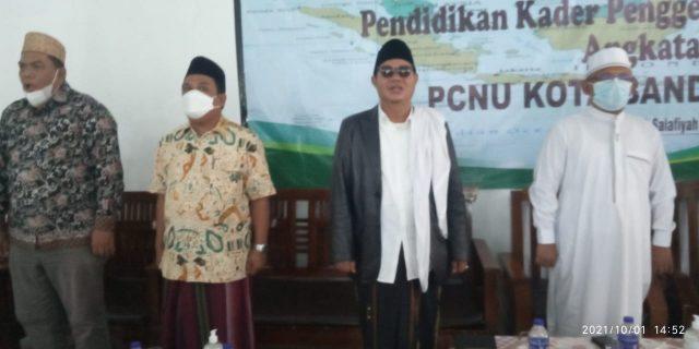 Ketua PCNU Kota Bandarlampung Ichwan Adji Wibowo (nomor tiga dari kanan).