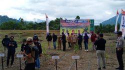 Penyambutan transmigran asal Jatimdan DIY di Kabupaten Mamuju Tengah, Sulawesi Barat, Selasa (26/10/2021).