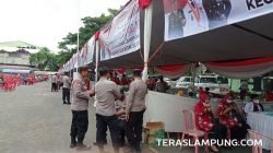 Vaksinasi Covid-19 digelar Polda Lampung di Lapangan Saburai, Bandarlampungg, pada minggu pertama hingga kedua Oktober 2021.